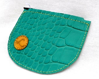 Genuine leather wallet - single piece - handmade - Made in France