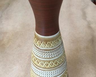 Vintage West German Pottery Vase Mid Century Modern Dumler & Breiden 102-25