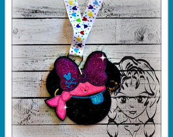 PiRATE GiRL Pin Lanyard Display Mouse HeaD Trader ~ ITH Mr Miss Mouse Inspired Photo Prop ~ INSTANT Download Design by Carrie