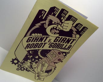 Giant Robot vs Giant Gorilla mini comic