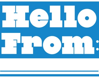 Hello From Blank Postcard - Postcards Greeting Stationery - Say Hi or Send to Elected Officials