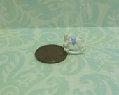Dollhouse Miniature Tiny Rocking Horse Figurine