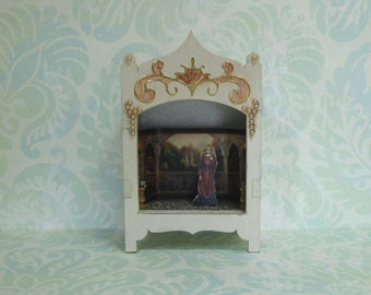 Miniature Toy Theater Rivendell Balcony Vignette