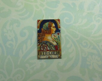 Dollhouse Miniature Renaissance Lady Tile Plaque