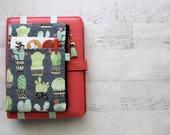 Pencil pouch - pencil case - planner band - cactus planner cover -  planner pouch - planner bag - cute planner accessories - zip pouch
