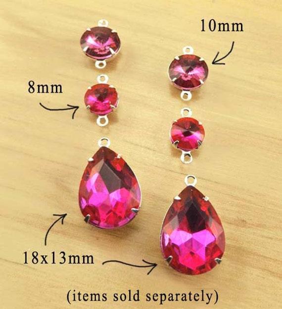 hot pink or fuschia pink glass beads