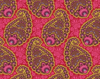 Joel Dewberry Heirloom Fabric / Paisley in Garnet JD55 /  1/2 Yard Cotton, Quilting Apparel Fabric / Out of Print / End of Bolt