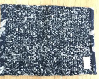 Black and White Rag Rug Modern