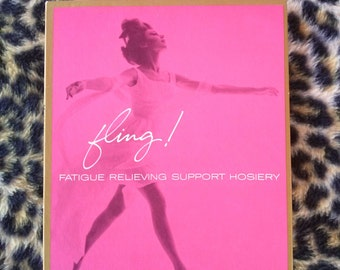 Vintage 1960s Stockings Nylon Thigh High 60s Garter Stockings 1 Pr Sz L NIP