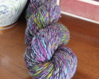 Handspun yarn, bulky, 3.8oz - mystic purple