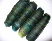 Mini Wool Mix Rolags for Hand Spinning or Felting