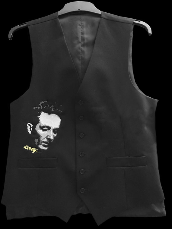 Embroidered Waistcoat - Woodie Guthrie
