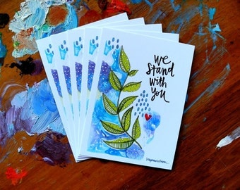 we stand with you - wisdom cards - 2.75x3.75 inches
