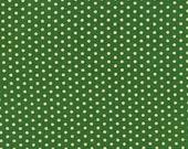 Thanksgiving Sale 10% Off Robert Kaufman Spot On Jungle Green Gold Pindot Quilting Apparel Fabric BTY