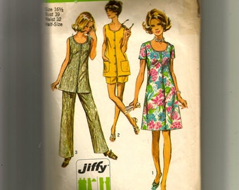 Simplicity Misses' Dress or Tunic and Pants In Two Lengths Pattern 8846