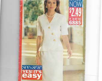 Butterick Misses' Top and Skirt Pattern 6885
