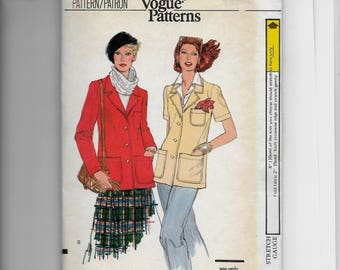 Vogue Misses' Jacket Pattern 9850