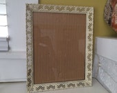 13 x 16 Ornate Metal Picture Frame // Large / Painted White