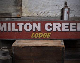 Custom Lodge Sign, Lodge Decor, Wood Lodge Decor, Lodge Wall Decor, Wooden Lodge Sign, Lodge - Rustic Hand Made Distressed Wood ENS1000873
