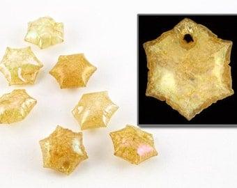 9mm Iridescent Beige Hexagon Puff Vintage Sequin (100 Pcs) #6661