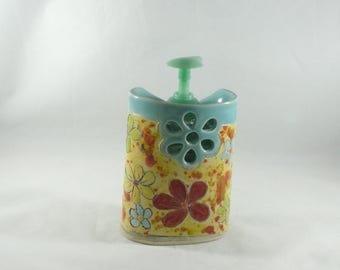 Flower Power Handmade colorado ceramic vase desk accessory pencil holder toothbrush holder utensil eyeglass holder soap dispenser office 730