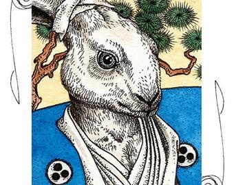 Usagi Yojimbo ACEO 2.5x3.5 Print TMNT Sketch Card