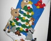 Forest Friends Christmas Stocking
