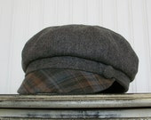 Womens Hat Gray Wool Newsboy Hat Womens Caps - M