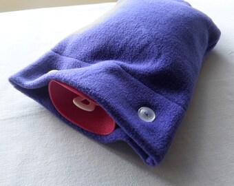 NEW Purple Fleece Hot Water Bottle Cover