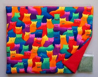 Catnip Mat and Catnip Colorful Cats Refillable Reversible
