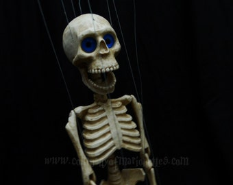 14 inch Skeleton Marionette with opening Jaw