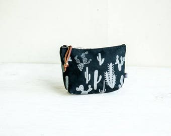 Cosmetic Bag-cactus Print