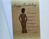 Happy Birthday Card For Her With Inspirational Quote- Words Inside