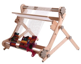 Ashford Rigid Heddle Table Stand weave tapestries with your rigid heddle loom