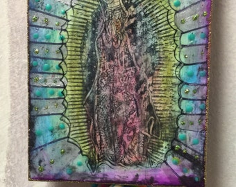 Guadalupe : mixed media on wood