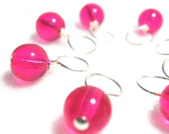 Hot Stuff Stitch Marker Drops for Knitting or Crochet (Choose Your Size - Set of 8)