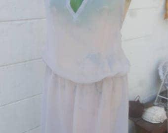Smokey Gray Sheer Summer Dress sz M by im.butterflycreations