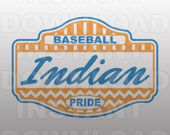 Baseball Indian Pride SVG File -Commercial & Personal Use- Vector Art SVG For Cricut,Silhouette ...