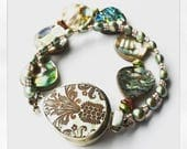 Mother Of Pearl Box clasp bracelet