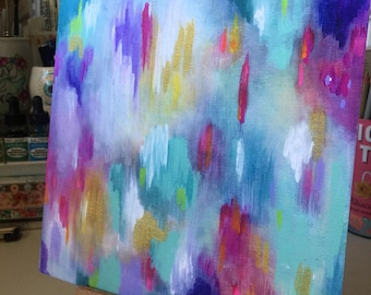 Summer in the City / Abstract Acrylic / Archival Print / 3 sizes available