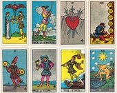 Rider Waite Smith Tarot cards, a printable digital downloads of the complete set.