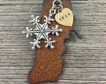RHODE ISLAND Christmas Ornament, Rhode Island  Ornament, Christmas Gifts 2017 Christmas Ornaments, Personalized Gift, Rhode Island Ornament