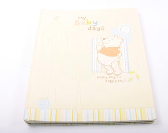My Baby Days, Baby Book, Record Baby Book, Winnie the Pooh, Disney, First Year, Vintage ~ The Pink Room ~ 170305