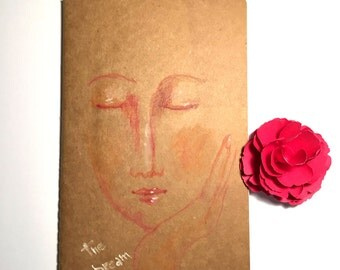 I dreamed a dream- OOAK hand drawn moleskine notebook