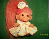 dress and headpiece  for 2-1/2-3 inch  troll doll