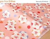 Japanese fabric wagara Ume bubbles cotton crepe - peach - 50cm
