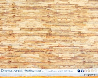 "One Yard Cut Quilt Fabric, Light Brown Wood Planks ""Danscapes"" Architectural by Dan Morris for RJR Fabrics, Sewing-Quilting- Craft Supplies"