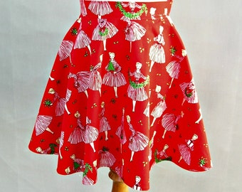 Ladies Half Apron with Michael Miller Holiday Hostess Fabric