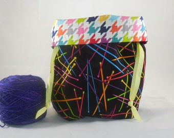 Needles Galore project bag by AnniePurl