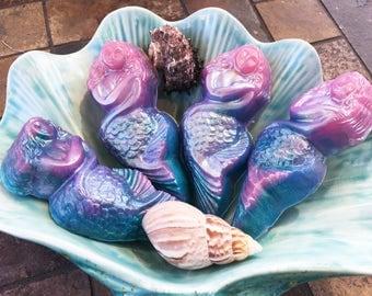 Mermaid Soap, Ocean Decor Soap, Vegan Soap, Gift for Her, Beach House Decor, Sea Soap, Siren Soap, Glycerin Soap, Bar Soap, Ocean Goddess
